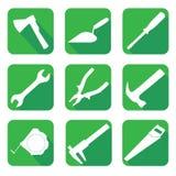 Εικονίδια στο θέμα της οικοδόμησης στοκ φωτογραφίες με δικαίωμα ελεύθερης χρήσης