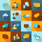 Εικονίδια συνομιλίας επίπεδα ελεύθερη απεικόνιση δικαιώματος