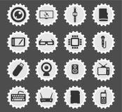 Εικονίδια συσκευών απλά Στοκ εικόνα με δικαίωμα ελεύθερης χρήσης