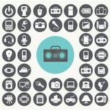 Εικονίδια συσκευών ηλεκτρονικής καθορισμένα Απεικόνιση αποθεμάτων