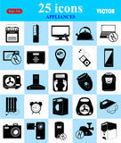Εικονίδια συσκευών που τίθενται για τον Ιστό και κινητά Στοκ φωτογραφία με δικαίωμα ελεύθερης χρήσης