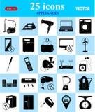 Εικονίδια συσκευών που τίθενται για τον Ιστό και κινητά Στοκ Εικόνα