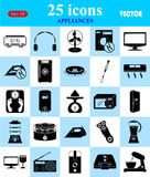 Εικονίδια συσκευών που τίθενται για τον Ιστό και κινητά Στοκ εικόνες με δικαίωμα ελεύθερης χρήσης