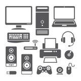 Εικονίδια συσκευών υπολογιστών Στοκ Εικόνες