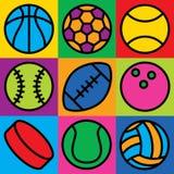 Εικονίδια σφαιρών παιχνιδιών Στοκ Εικόνα