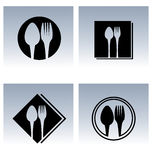 Εικονίδια σχεδίου εστιατορίων Στοκ Φωτογραφία