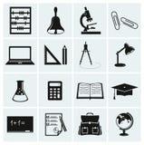 Εικονίδια σχολείου και εκπαίδευσης. Στοκ Εικόνες