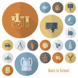 Εικονίδια σχολείου και εκπαίδευσης Στοκ εικόνα με δικαίωμα ελεύθερης χρήσης