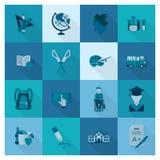 Εικονίδια σχολείου και εκπαίδευσης Στοκ φωτογραφίες με δικαίωμα ελεύθερης χρήσης