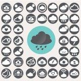 Εικονίδια σύννεφων καθορισμένα Απεικόνιση αποθεμάτων