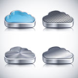 Εικονίδια σύννεφων Στοκ Εικόνα