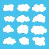 εικονίδια σύννεφων Στοκ εικόνες με δικαίωμα ελεύθερης χρήσης