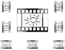 Εικονίδια ταινιών Στοκ φωτογραφίες με δικαίωμα ελεύθερης χρήσης