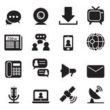 Εικονίδια τεχνολογίας επικοινωνιών Στοκ Φωτογραφία