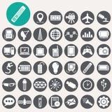 Εικονίδια τεχνολογίας καθορισμένα Στοκ φωτογραφία με δικαίωμα ελεύθερης χρήσης
