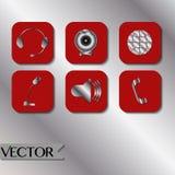 Εικονίδια τεχνολογίας καθορισμένα Στοκ Εικόνες