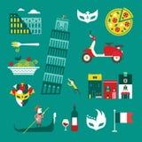 Εικονίδια της Ιταλίας διανυσματική απεικόνιση