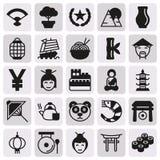 Εικονίδια της Κίνας καθορισμένα, διανυσματική απεικόνιση Στοκ εικόνα με δικαίωμα ελεύθερης χρήσης