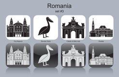 Εικονίδια της Ρουμανίας Στοκ Φωτογραφίες