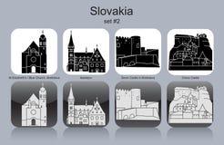 Εικονίδια της Σλοβακίας Στοκ εικόνα με δικαίωμα ελεύθερης χρήσης