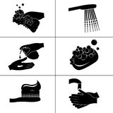 Εικονίδια της υγιεινής Στοκ εικόνες με δικαίωμα ελεύθερης χρήσης