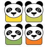 Εικονίδια της Panda Στοκ φωτογραφία με δικαίωμα ελεύθερης χρήσης