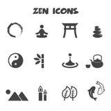 Εικονίδια της Zen Στοκ Εικόνες