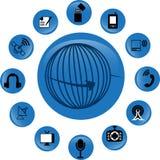Εικονίδια τηλεπικοινωνιών Στοκ Εικόνα