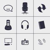 Εικονίδια τηλεφωνικών κέντρων Στοκ φωτογραφία με δικαίωμα ελεύθερης χρήσης