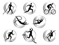 Εικονίδια του θερινού αθλητισμού Στοκ φωτογραφία με δικαίωμα ελεύθερης χρήσης