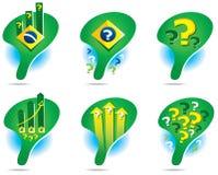 Εικονίδια του χάρτη της Βραζιλίας Στοκ φωτογραφίες με δικαίωμα ελεύθερης χρήσης