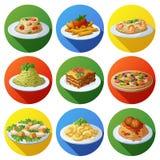εικονίδια τροφίμων που τί&th carpaccio κουζίνας άριστη πολυτέλεια τρόπου ζωής τροφίμων ιταλική Στοκ φωτογραφίες με δικαίωμα ελεύθερης χρήσης