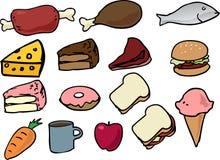 εικονίδια τροφίμων Στοκ εικόνες με δικαίωμα ελεύθερης χρήσης