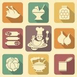 2 εικονίδια τροφίμων Στοκ Εικόνες