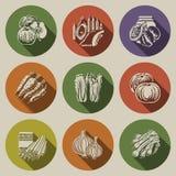 Εικονίδια 4 τροφίμων Στοκ φωτογραφίες με δικαίωμα ελεύθερης χρήσης