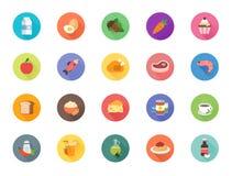 20 εικονίδια τροφίμων Στοκ Εικόνα