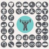 Εικονίδια τρόπου ζωής καθορισμένα Στοκ εικόνες με δικαίωμα ελεύθερης χρήσης