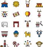 Εικονίδια τσίρκων Στοκ Εικόνα