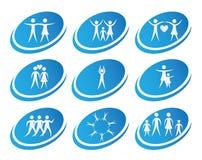 Εικονίδια υγείας Στοκ εικόνα με δικαίωμα ελεύθερης χρήσης