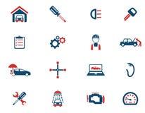 Εικονίδια υπηρεσιών αυτοκινήτων απλά Στοκ φωτογραφία με δικαίωμα ελεύθερης χρήσης