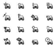Εικονίδια υπηρεσιών αυτοκινήτων απλά Στοκ Φωτογραφίες
