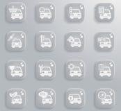 Εικονίδια υπηρεσιών αυτοκινήτων απλά Στοκ φωτογραφίες με δικαίωμα ελεύθερης χρήσης