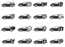 Εικονίδια υπηρεσιών αυτοκινήτων που τίθενται Στοκ εικόνα με δικαίωμα ελεύθερης χρήσης