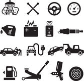 Εικονίδια υπηρεσιών αυτοκινήτων Στοκ φωτογραφίες με δικαίωμα ελεύθερης χρήσης