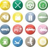 Εικονίδια υπηρεσιών αυτοκινήτων Στοκ Εικόνα