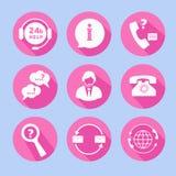 Εικονίδια υποστήριξης τηλεφωνικών κέντρων Στοκ φωτογραφία με δικαίωμα ελεύθερης χρήσης