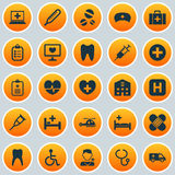 Εικονίδια φαρμάκων καθορισμένα Συλλογή Στοκ Εικόνες