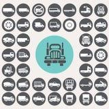 Εικονίδια φορτηγών καθορισμένα Στοκ φωτογραφίες με δικαίωμα ελεύθερης χρήσης