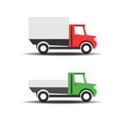 Εικονίδια φορτηγών παράδοσης διανυσματική απεικόνιση