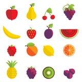 Εικονίδια φρούτων Στοκ εικόνα με δικαίωμα ελεύθερης χρήσης